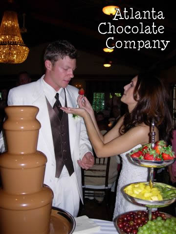 Chocolate Fountain at Wedding Reception in Roswell, GA