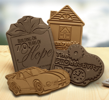 CUSTOM MOLDED CUSTOM SHAPED CHOCOLATE BARS