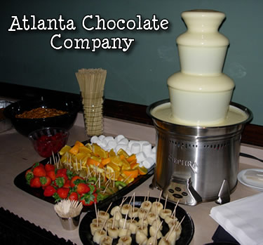 Chocolate fountain with white chocolate - ATLANTA CHOCOLATE FOUNTAIN