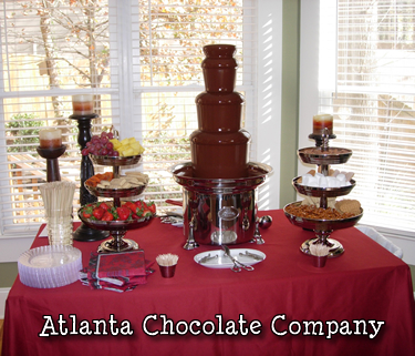 ATLANTA CHOCOLATE FOUNTAIN 27 inch chocolate fountain with dark chocolate - decadent!