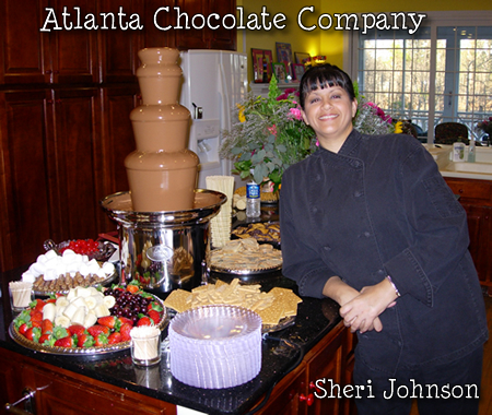 ATLANTA CHOCOLATE FOUNTAIN WITH ATTENDANT - TOP NOTCH PROFESSIONAL SERVICE