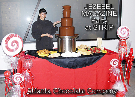 ATLANTA CHOCOLATE FOUNTAIN - 34 INCH MODEL SEPHRA FOUNTAIN DEBUTS AT ATLANTIC STATION ATLANTA GA