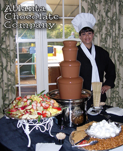 Sheri Johnson - Atlanta Chocolate Company, Atlanta, GA USA - 27 inch Chocolate Fountain with Belgian Milk Chocolate  -image