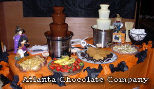 Halloween - Double Chocolate Fountain Party -image- ATLANTA CHOCOLATE FOUNTAIN RENTAL